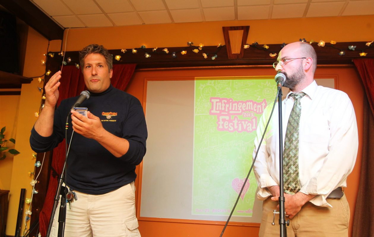 Comedians Don Gervasi, left, and Todd Benzin will perform in the Buffalo ComedySportz Headquarters on New Year's Eve. (Mark Mulville/Buffalo News file photo)