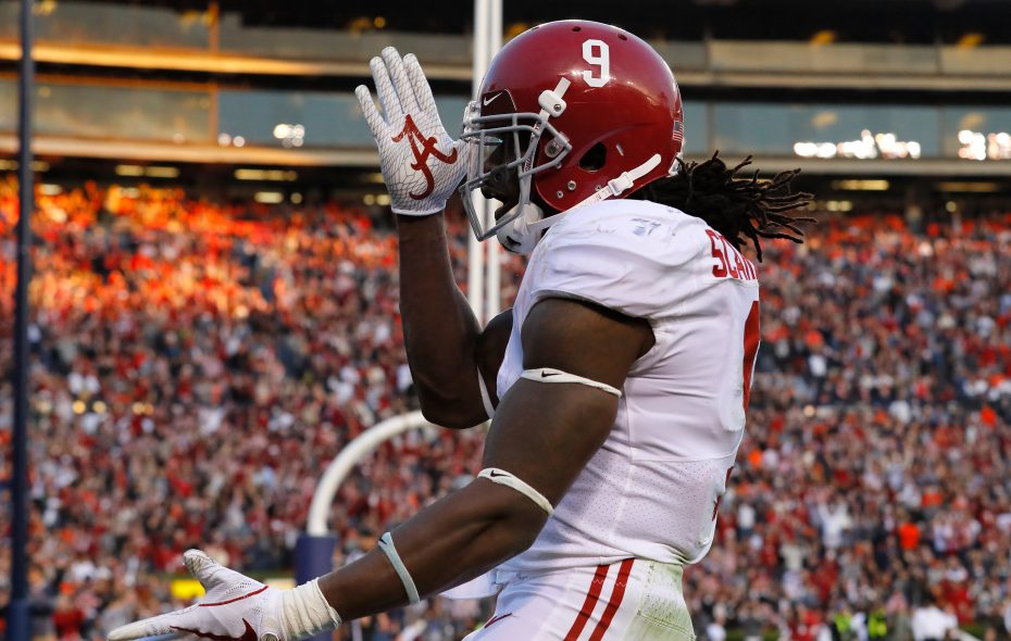 Bo Scarbrough #9 of the Alabama Crimson Tide. (Getty Images)