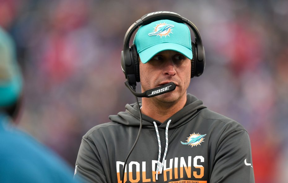 """Miami Dolphins coach Adam Gase said Tyrod Taylor """"has a really good feel in the pocket."""" (Rich Barnes/Getty Images)"""