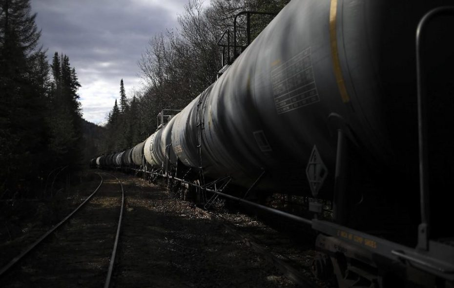 Empty train cars from the Midwest, some of them used to transport oil, are stored on unused tracks in the Adirondacks near Minerva, N.Y., Oct. 25, 2017. The cars began arriving a few weeks ago to the consternation of environmental groups backed by New York Gov. Andrew Cuomo.(Nathaniel Brooks/The New York Times)