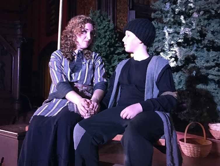 Jessica Best and Ian Torres are featured in the opera 'Amahl and the Night Visitors.' (Photo courtesy Westminster Presbyterian Church.)