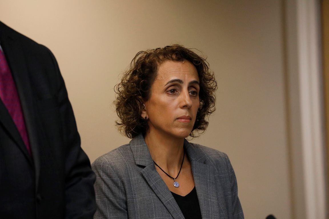 Andrea Costantino, former UB director of campus living, pleads guilty to felony grand larceny, Thursday, Sept. 7, 2017.  (Derek Gee/Buffalo News)