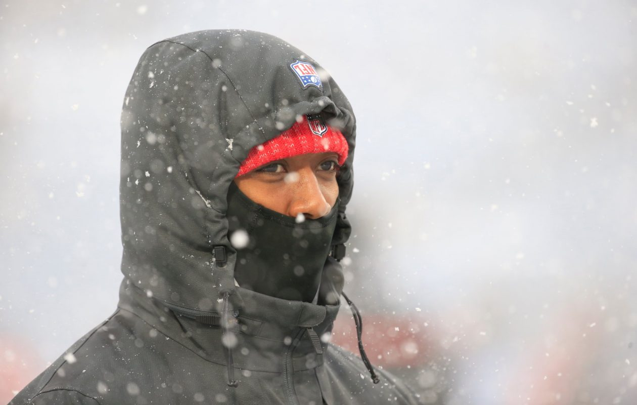 An inactive Tyrod Taylor watches the field before the Colts game Dec. 10. (Harry Scull Jr./News file photo)