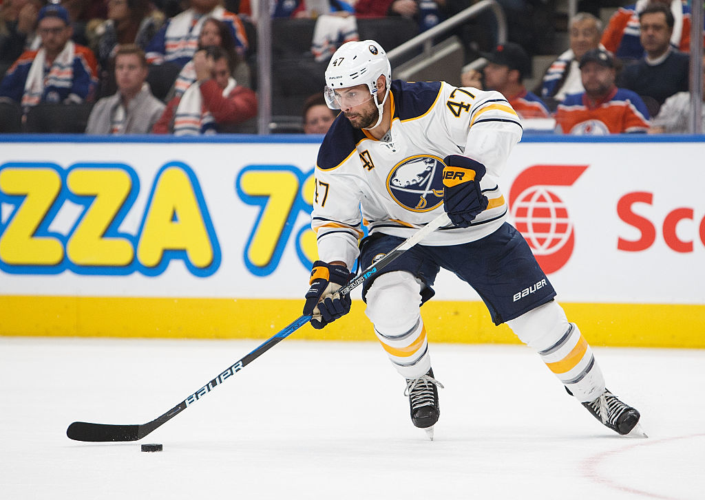Zach Bogosian had a 60.3 Corsi rating over the weekend against the Penguins. (Getty Images)