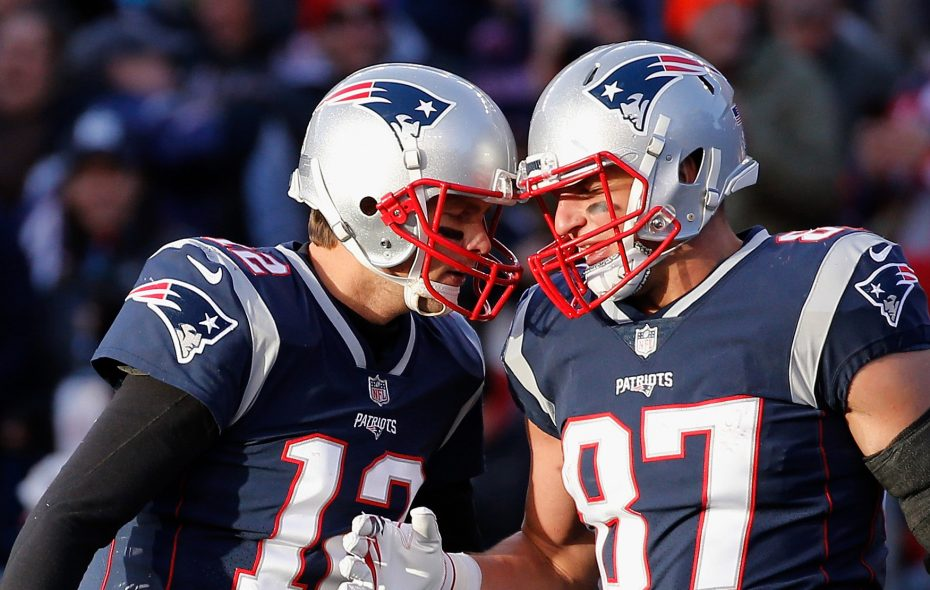 Tom Brady is back with the New England Patriots but Rob Gronkowski is not. (Getty Images)