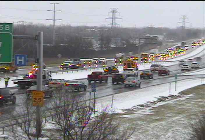 Accident involving school bus reported on 290 eastbound
