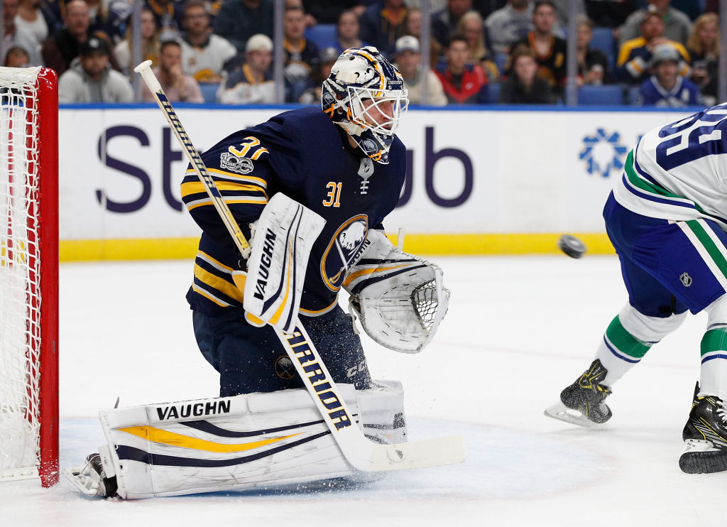 Chad Johnson will get the call in goal for the Sabres tonight. (Getty Images)
