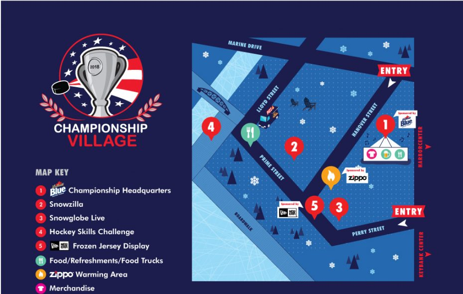 Championship Village to open Friday at Canalside