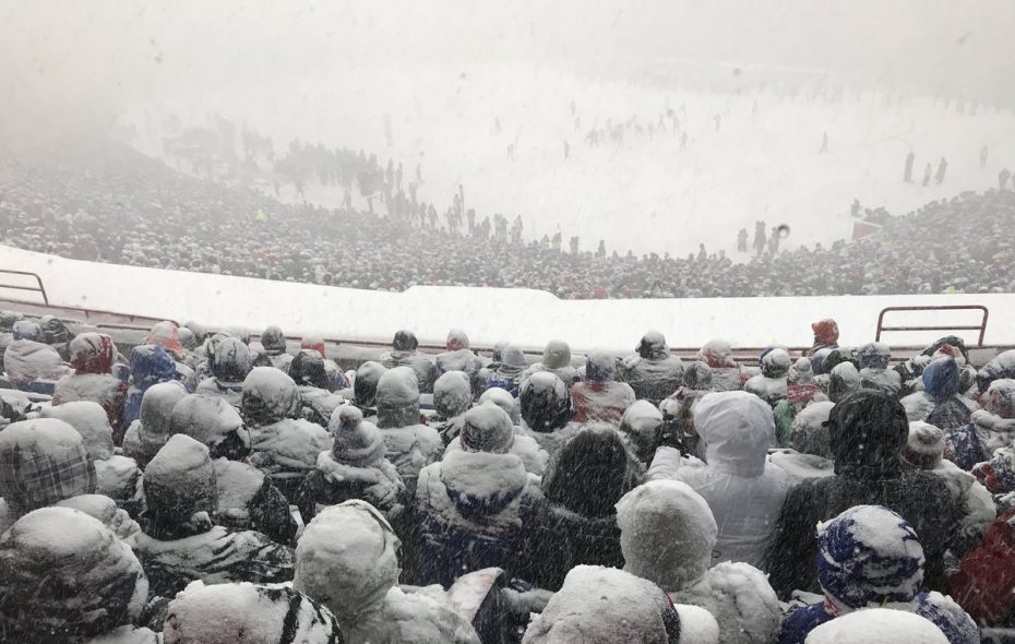 The Bills have been known to have a home field edge in cold weather, and they have three games in December in the 2018 season. (Nick Veronica/Buffalo News)