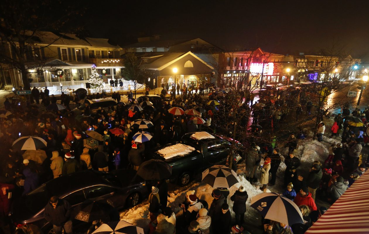 People pack Main Street in East Aurora for the 2016 Carolcade. (Mark Mulville/News file photo)