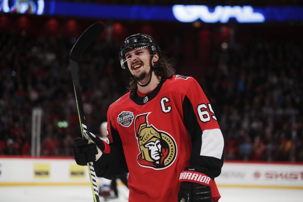 Erik Karlsson of the Senators could be in line to become the NHL's highest-paid defenseman (Getty Images).