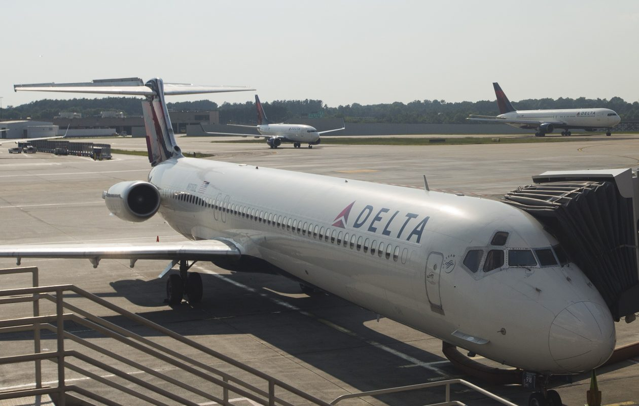 Delta airplanes are seen at the Hartsfield-Jackson Atlanta International airport on July 17, 2015. (Andrew Caballero-Reynolds/AFP/Getty Images)
