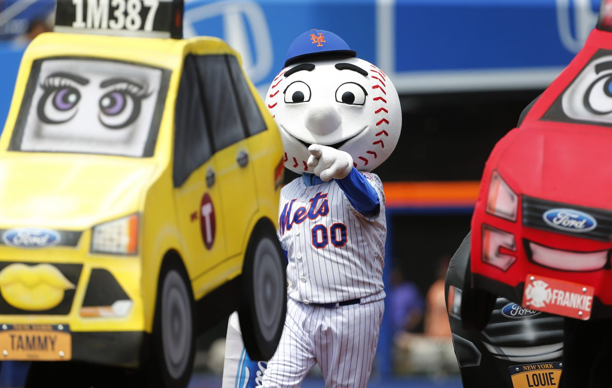 Real taxi cabs and city-like streets will take over for Mr. Met and fake cars at the Winter Classic in Citi Field on Monday. (Getty Images)