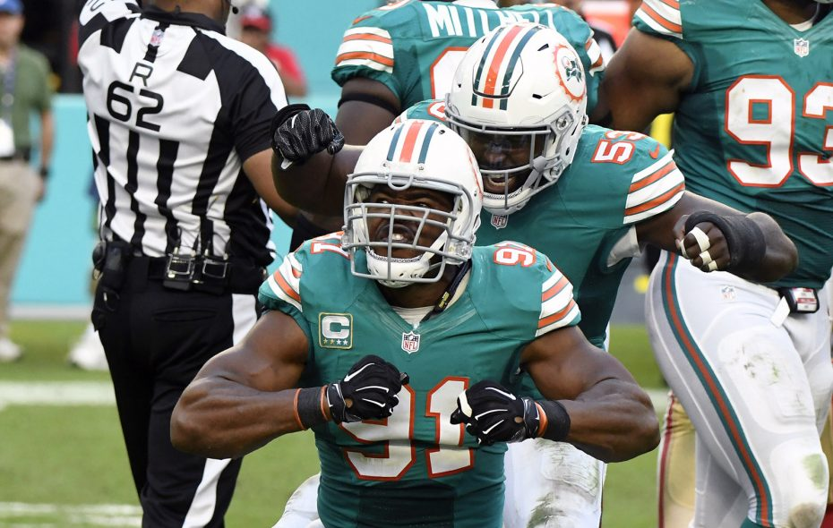 Cameron Wake remains Miami's top defensive lineman at almost age 37. (Getty Images file photo)