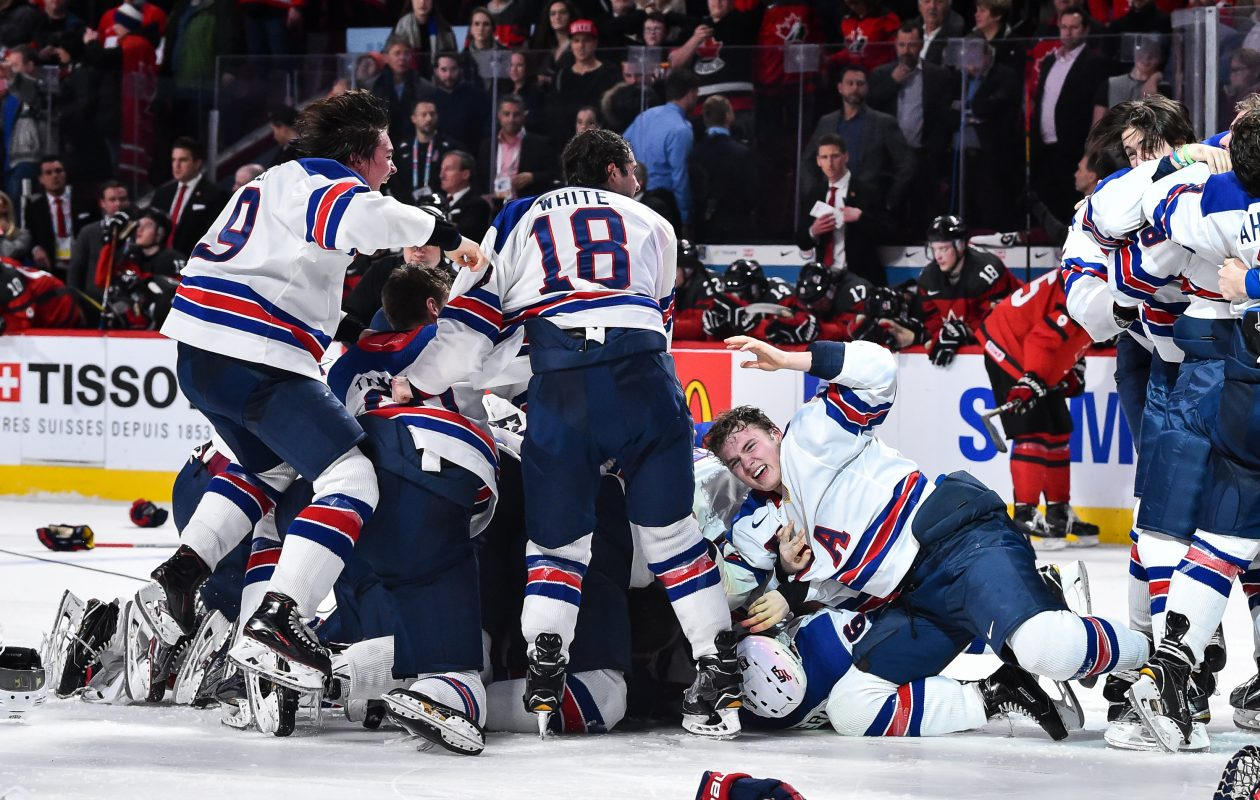 The NHL Network will broadcast all of the U.S. games as they attempt to repeat as gold medal champs at the World Juniors. (Getty Images)