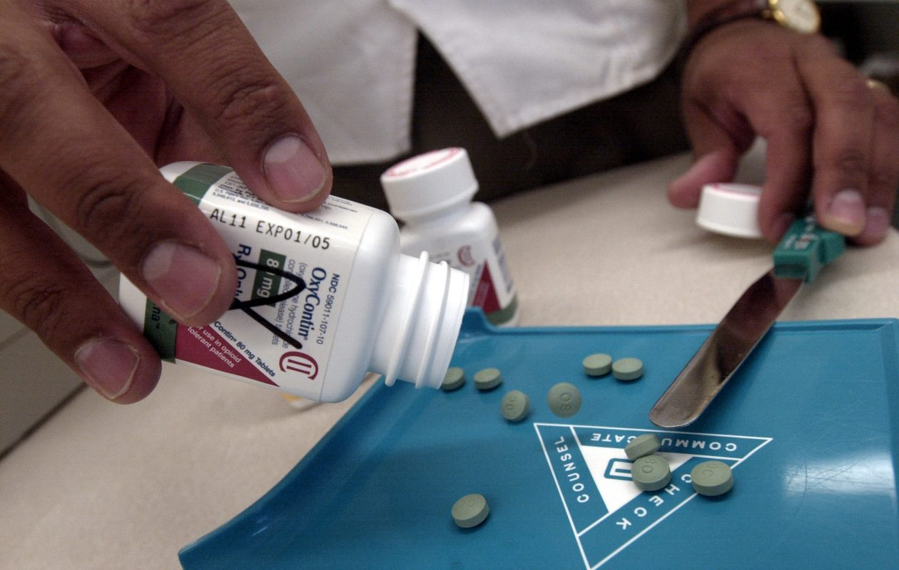 Four counties here– Erie, Niagara, Chautauqua and Cattaraugus– landed among the top 10 with the highest opioid prescribing rates in 2015, according to the New York State Health Foundation. (Darren McCollester/Getty Images)