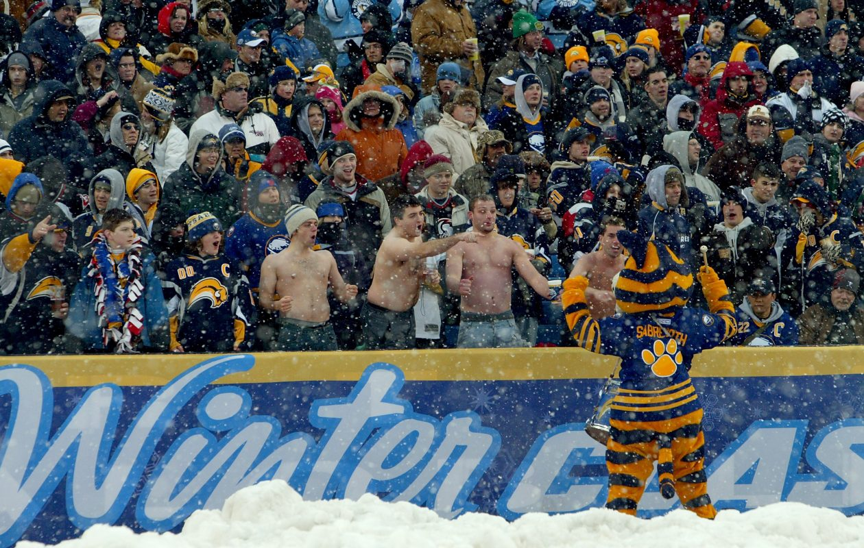 The fans and snow figure prominently in a new documentary about the 2008 Winter Classic held in the Buffalo Bills' stadium. (Getty Images)