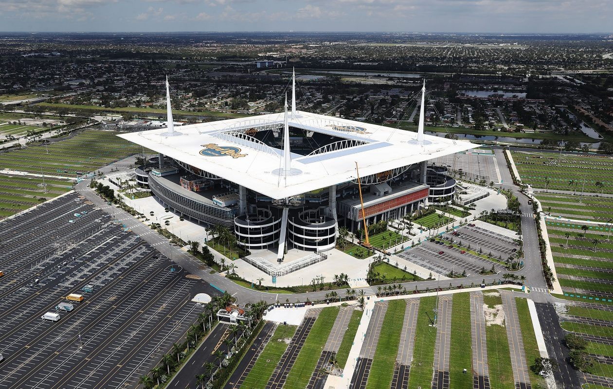 A pleasant day is expected for the Bills-Miami game Sunday at Hard Rock Stadium in Miami. (Getty Images)