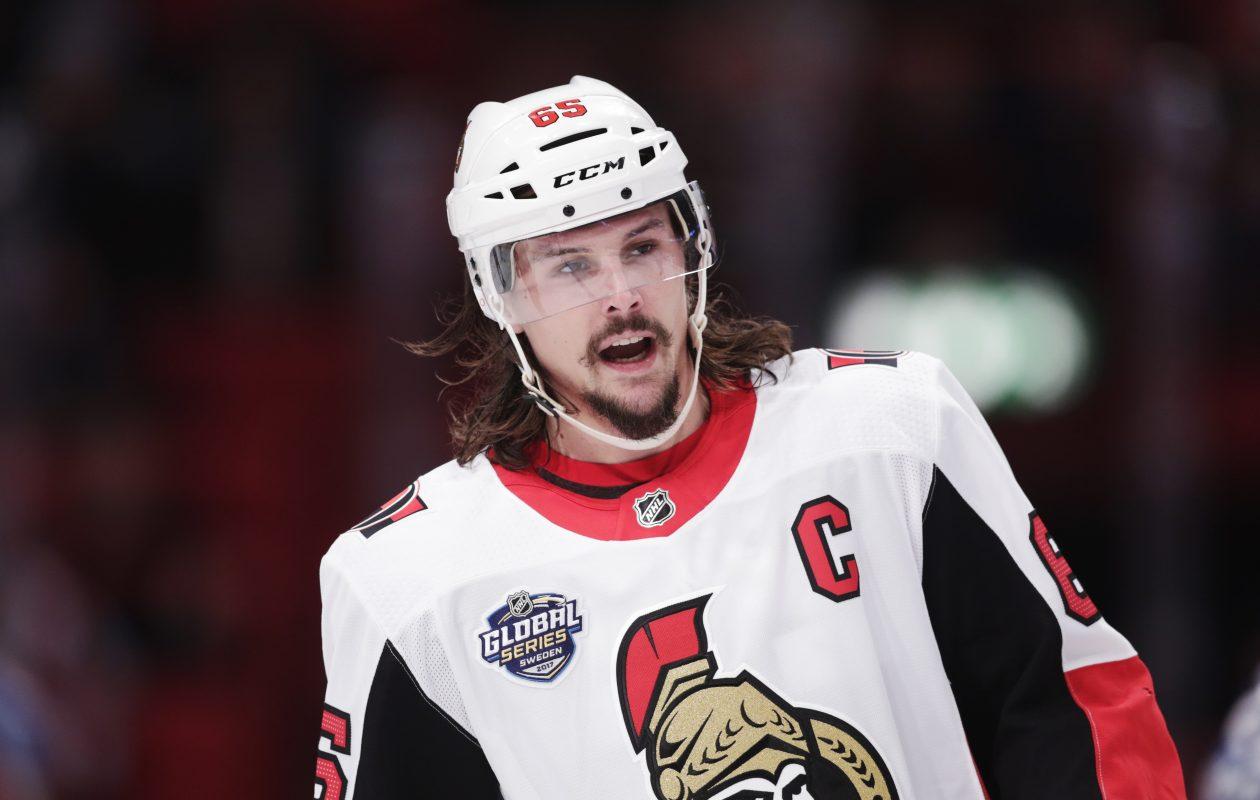Senators captain Erik Karlsson loves Ottawa, says former teammate Robin Lehner. (Getty Images)