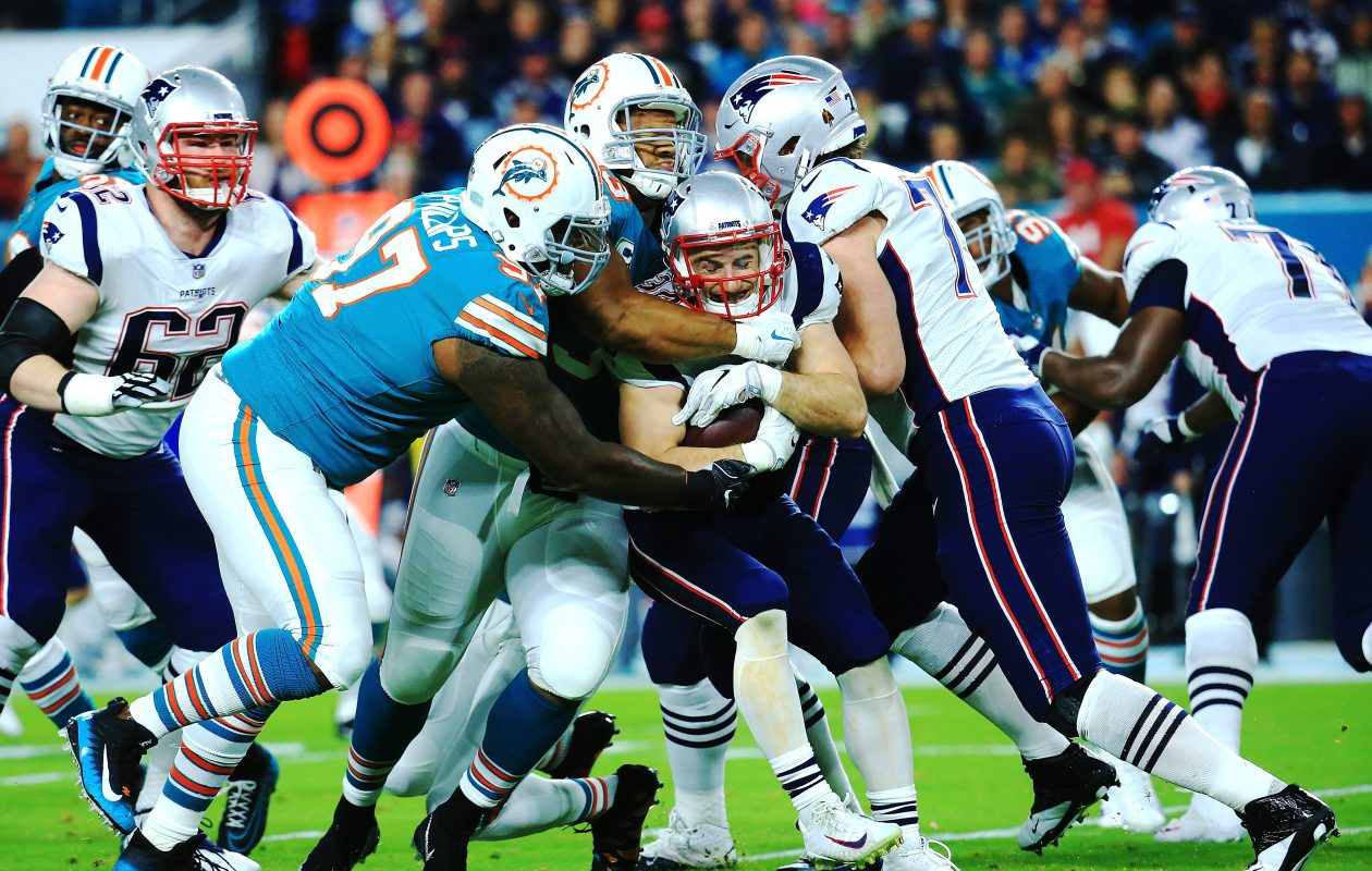 The Miami Dolphins beat the New England Patriots 27-20. (Getty Images)