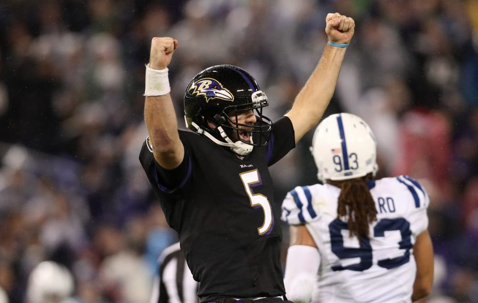 Quarterback Joe Flacco and the Ravens are focused on making playoffs (Patrick Smith/Getty Images)