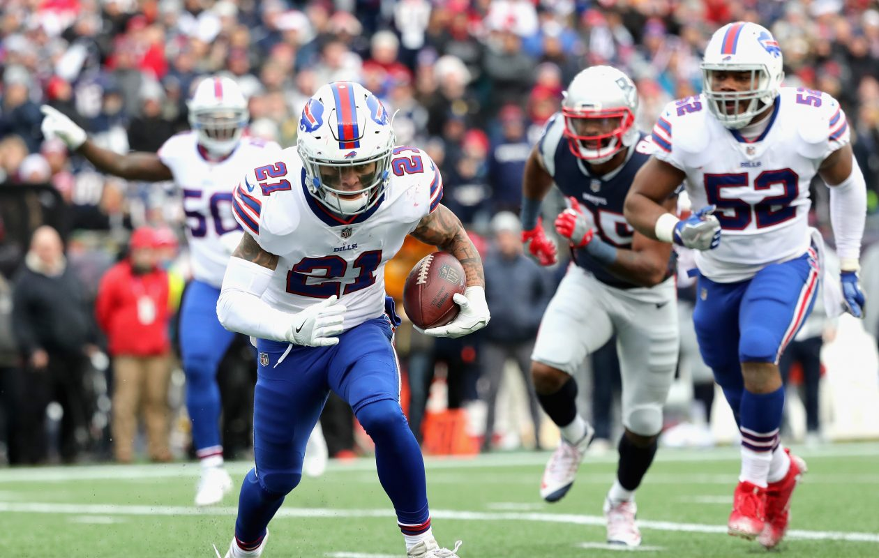 Safety Jordan Poyer and the Bills' defense face their toughest challenge of the year Monday against the New England Patriots. (Getty Images)