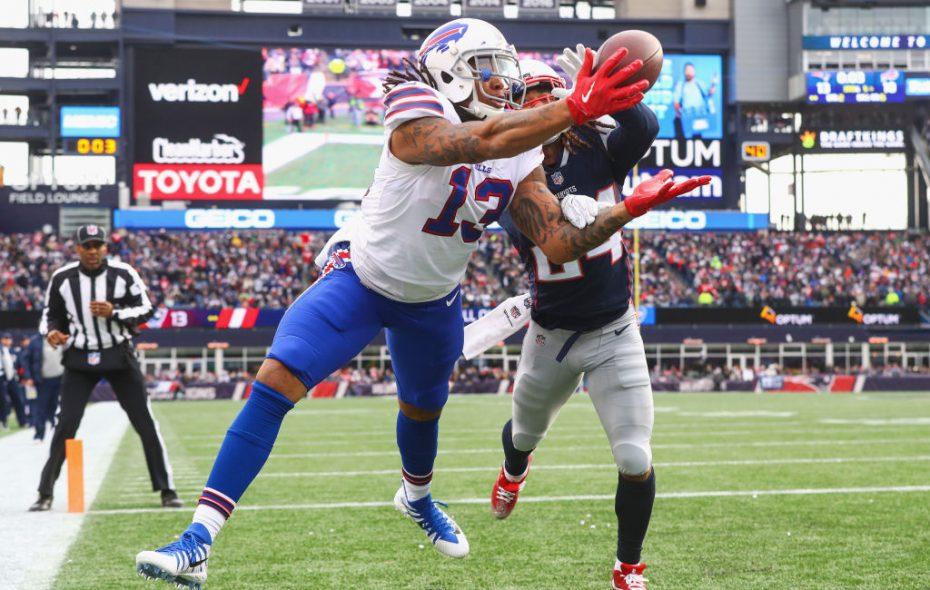 Kelvin Benjamin's apparent TD catch in New England still would not be a catch under the proposed NFL rule. (Getty Images)