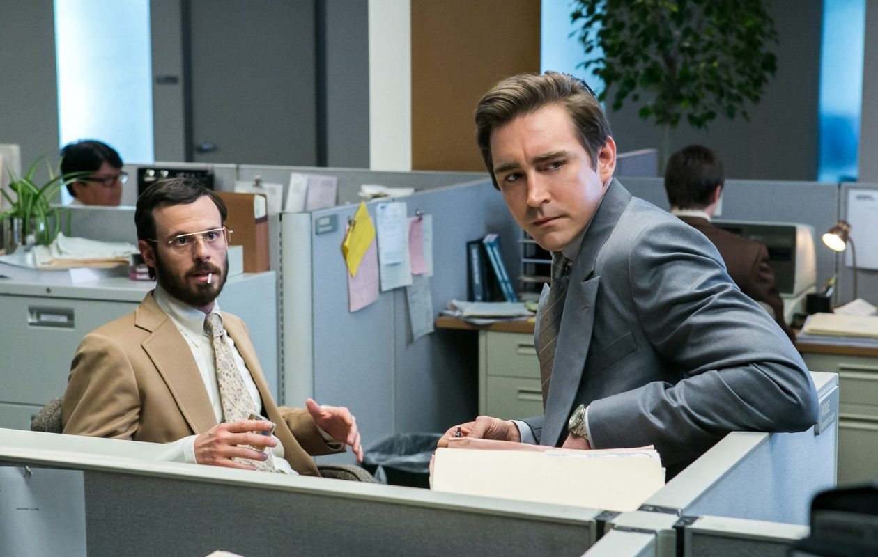 Scoot McNairy as Gordon Clark and Lee Pace as Joe MacMillan in 'Halt and Catch Fire.' (Tina Rowden/AMC)