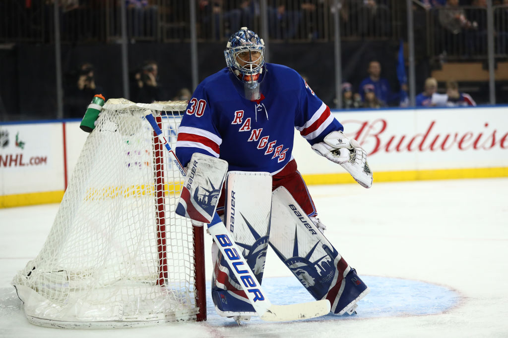 Rangers goalie Henrik Lundqvist is switching from his customary Lady Liberty pads to ones honoring New York and the Mets for the Winter Classic (Getty Images).