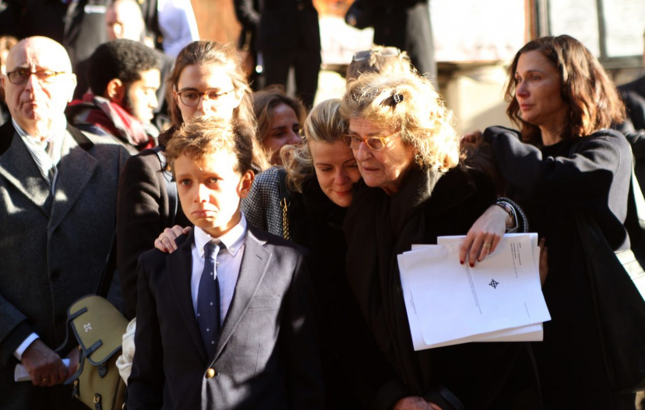Mourners react following the funeral services for Robert G. Wilmers  Thursday at St. Bartholomew's Church inmidtown Manhattan.  {Bruce Cotler/Special to the News)