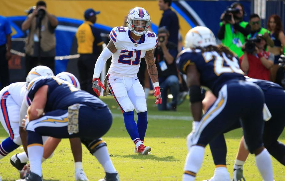 Jordan Poyer and the Bills' defensive backs have become expert at disguising coverages. (Harry Scull Jr./ Buffalo News)