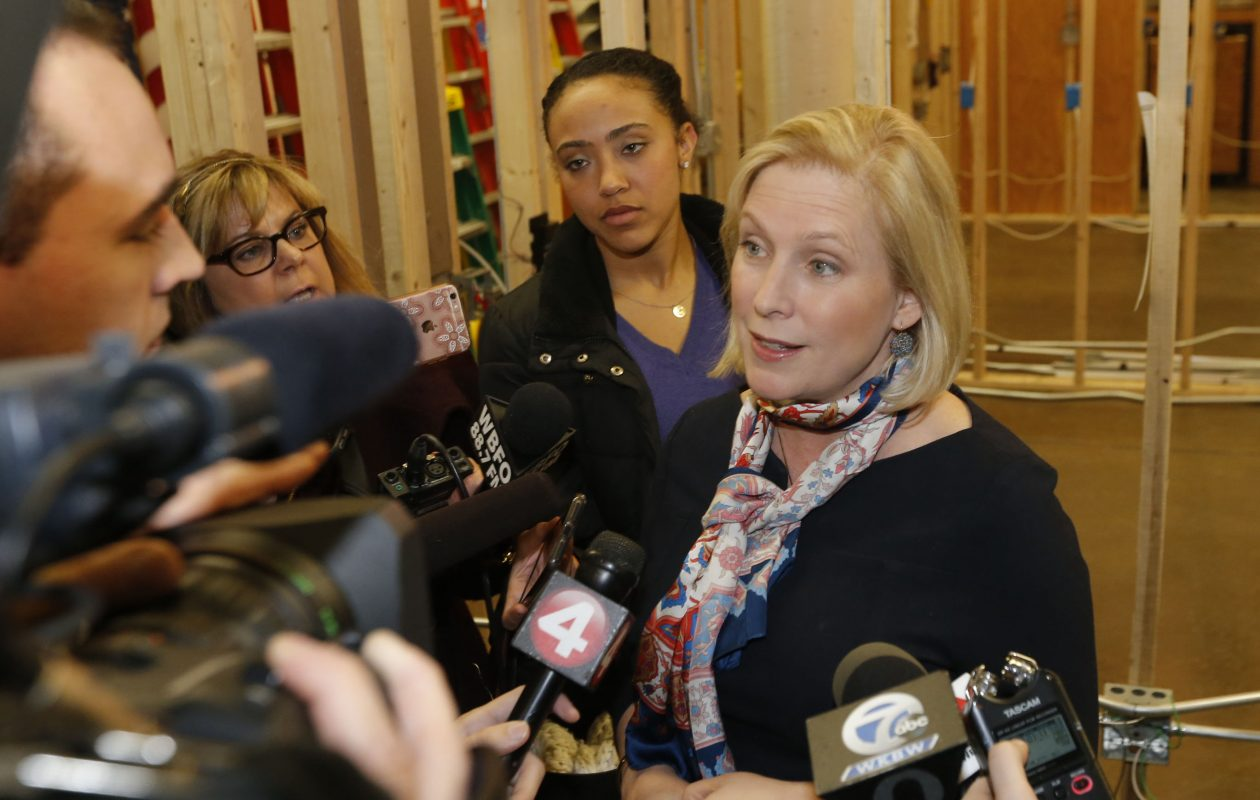 Sen. Kirsten Gillibrand has made news calling on President Trump to resign over sexual abuse allegations. (Robert Kirkham/Buffalo News)