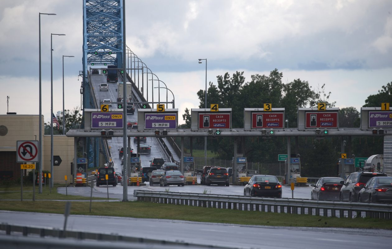 The big story for many motorists will be the tearing down of the Grand Island bridge toll barriers to make way for a cashless tolling system.  (John Hickey/Buffalo News)