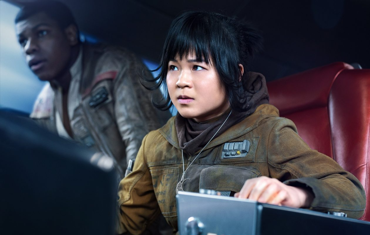 Kelly Marie Tran is Rose and John Boyega is Finn in 'The Last Jedi.' (Jonathan Olley/Walt Disney Studios Motion Pictures USA )