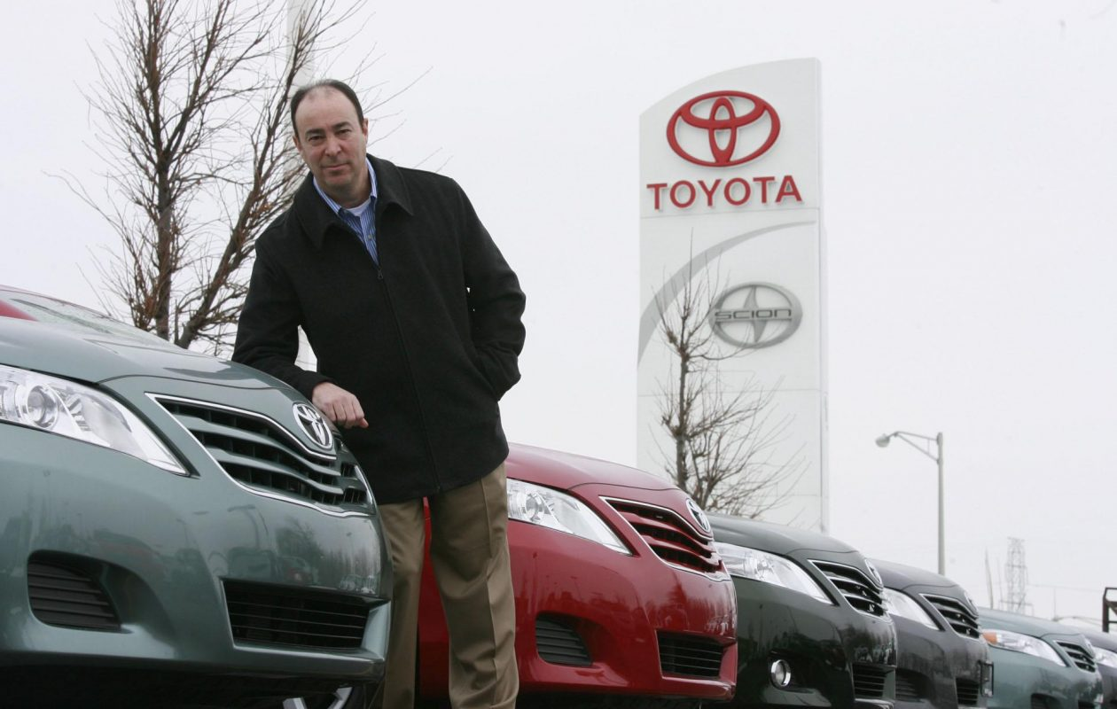 Craig Schreiber, owner of Northtown Toyota, stands outside the dealership in this 2010 photo. Northtown Toyota is planning to make updates to the dealership at the manufacturer's request. (Harry Scull Jr./Buffalo News)