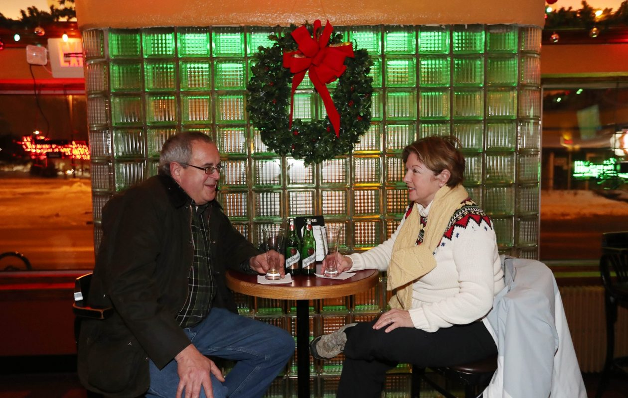 Joy and Peg Rafter of Hamburg enjoy a couple of beers at Rohall's Corner. (Sharon Cantillon/Buffalo News)
