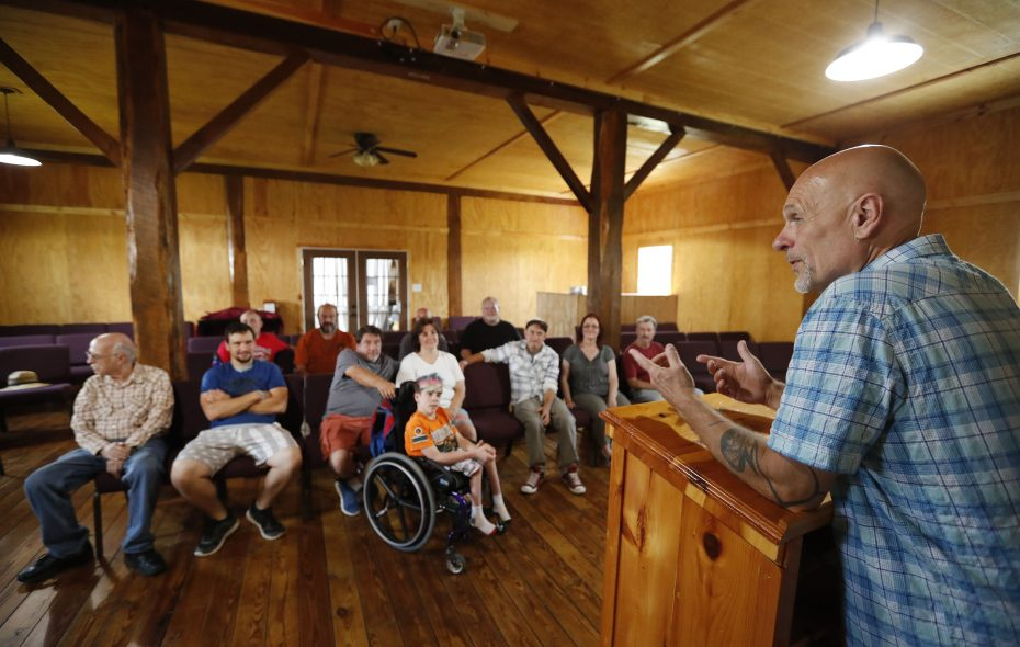 "A lot of the curriculum at the Total Freedom Farm addictions treatment program ""has to do with healing and strengthening,"" says leader John Kula, a pastor who has struggled with drug abuse himself. (Mark Mulville/Buffalo News)"