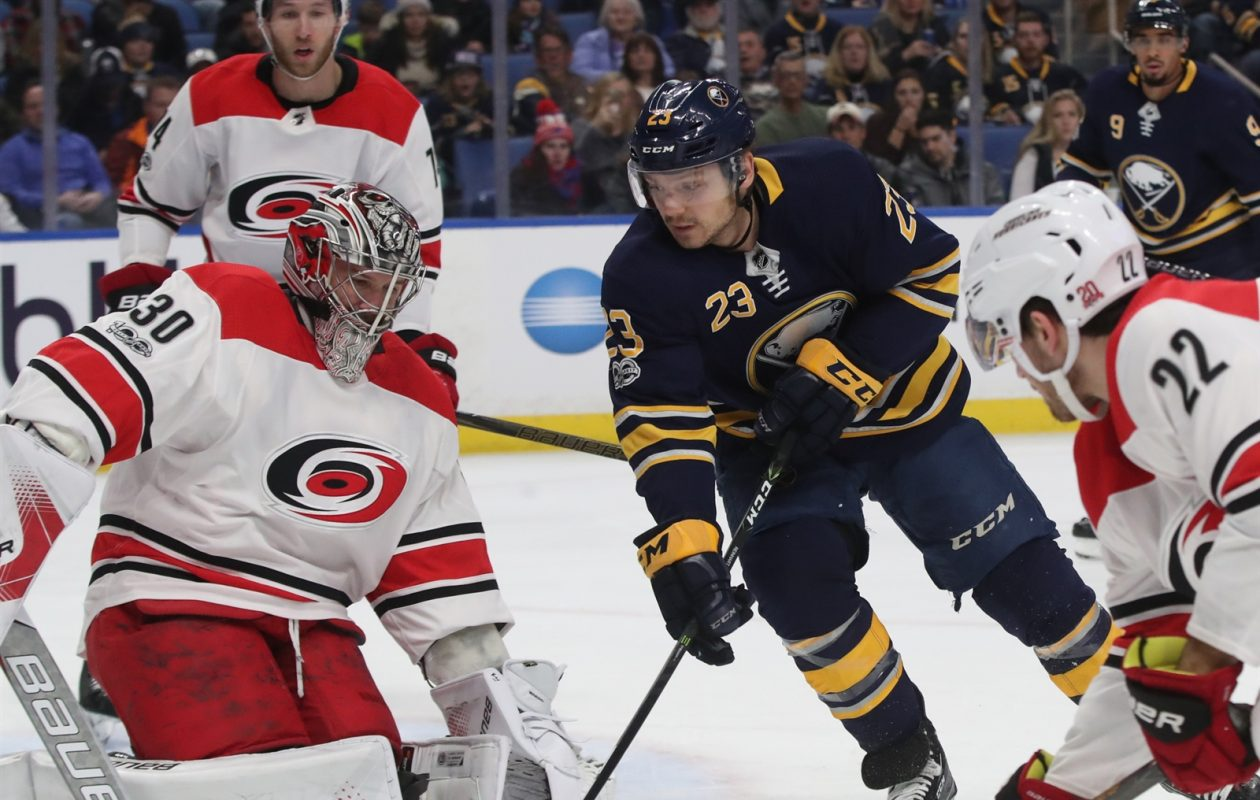 The Sabres need Sam Reinhart to keep driving the net (James P. McCoy/Buffalo News).