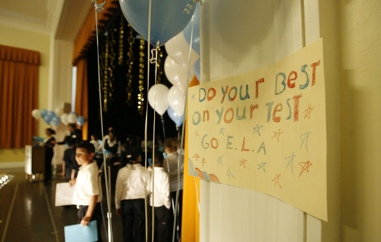 Buffalo's Early Childhood Center, School 82, held a pep rally to encourage pupils to do well on upcoming state assessment tests in 2009. (File photo/Sharon Cantillon/Buffalo News)
