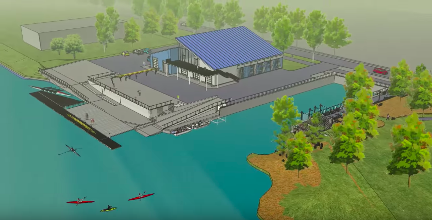A rendering of the Buffalo Scholastic Rowing Association's new boathouse.