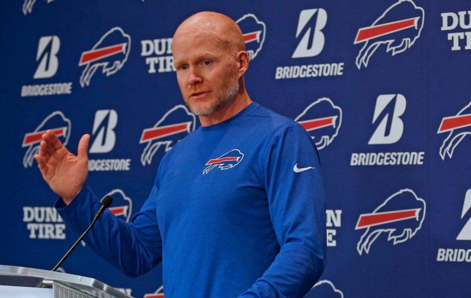 "Bills coach Sean McDermott said building around Josh Allen was an ""obvious"" priority this offseason. (Robert Kirkham/News file photo)"