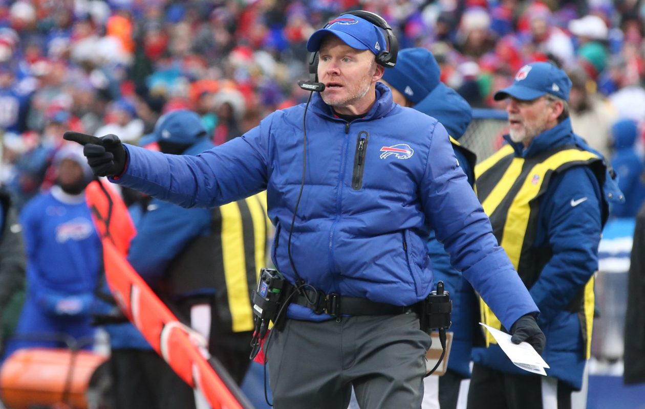 'The good part about us is we continue to build, continue to get better and grow,' Bills head coach Sean McDermott said. 'These are valuable experiences for our young players to go through. All good stuff.' (James P. McCoy/Buffalo News)