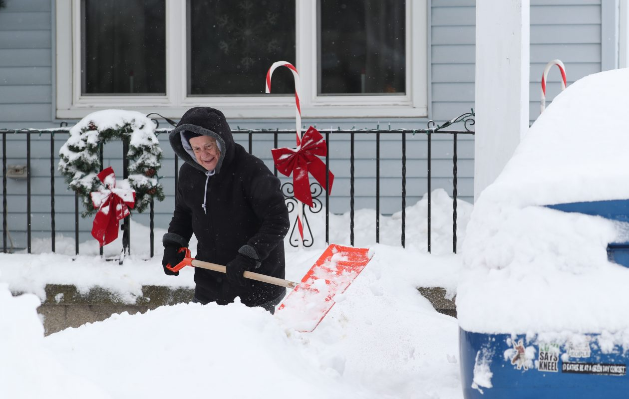 Snow for Christmas? Plan on it. There might be even more than you bargain for, forecasters say. (Sharon Cantillon/Buffalo News)