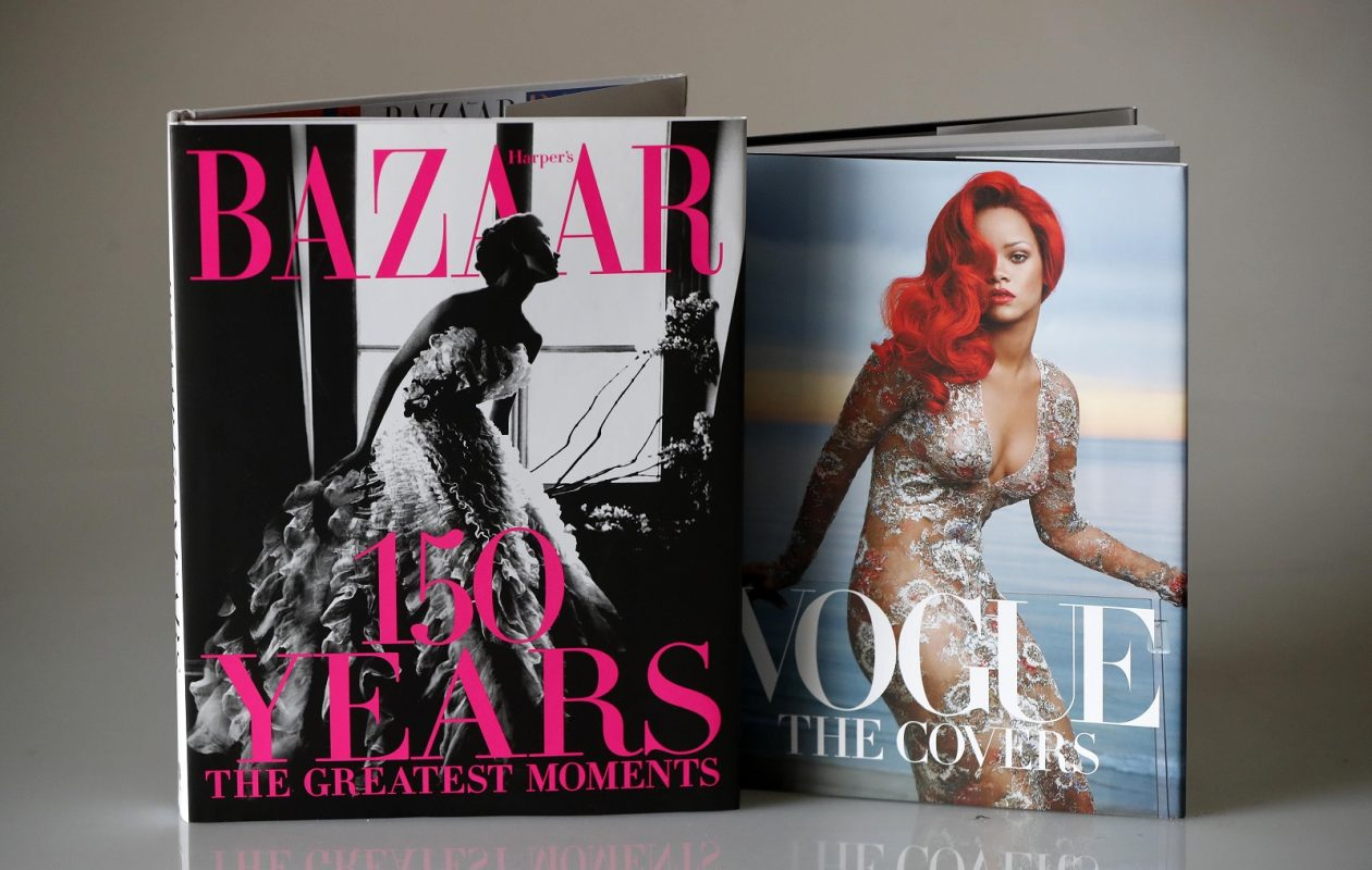 """'Vogue: The Covers (Updated Edition),"""" by and """"Harper's Bazaar: 150 Years – the Greatest Moments."""" (Mark Mulville/Buffalo News)"""