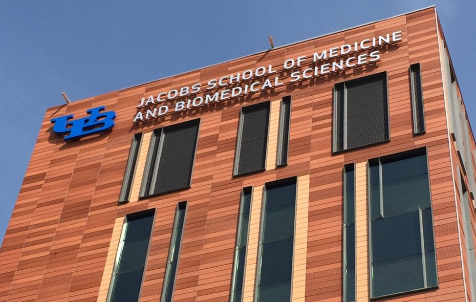 The exterior of UB's new medical school. (Buffalo News file photo)