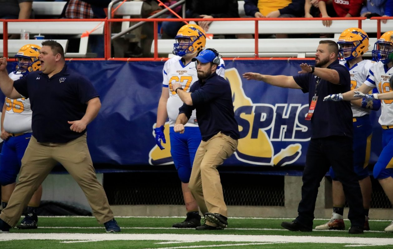 West Seneca West's Mike Vastola is the Buffalo Bills' nominee for the 2017 Don Shula NFL High School Coach of the Year Award (Harry Scull Jr./Buffalo News)