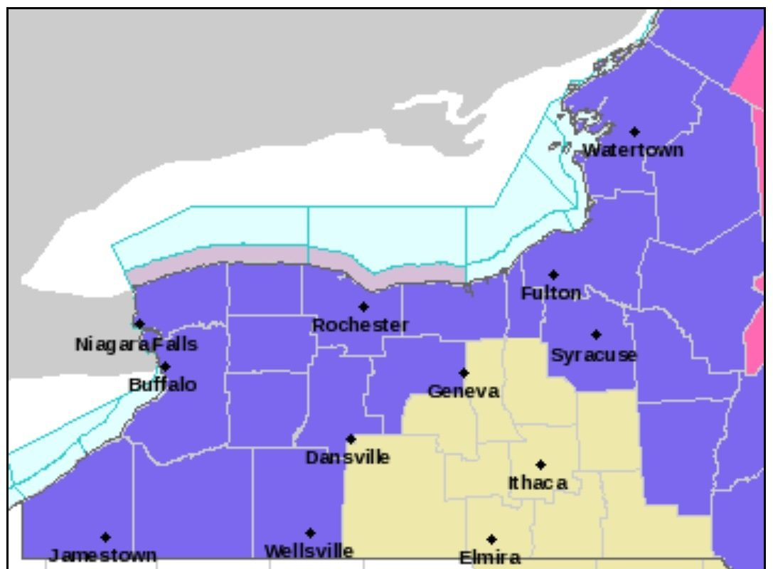 A winter weather advisory is posted through 7 p.m. Saturday for Western New York. (National Weather Service)
