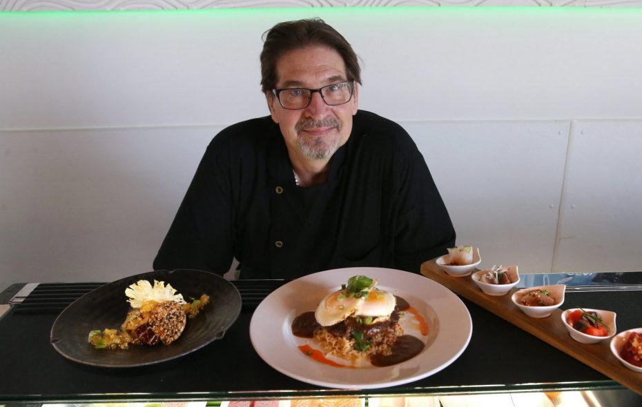 Chef Mike Andrzejewski of Seabar and Cantina Loco presents the Hudson Valley foie gras and more dishes in 2016. (Sharon Cantillon/Buffalo News)