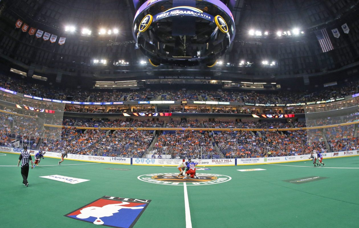 The Buffalo Bandits defeated the Toronto Rock 13-9 in their season opener on Dec. 8. (Harry Scull Jr./Buffalo News)