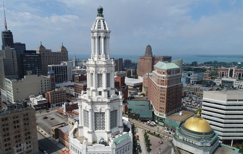 The Electric Tower's historic executive offices will now be used by Bank on Buffalo. (Robert Kirkham/Buffalo News)